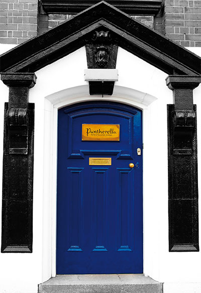 The famous Pantherella Blue Door