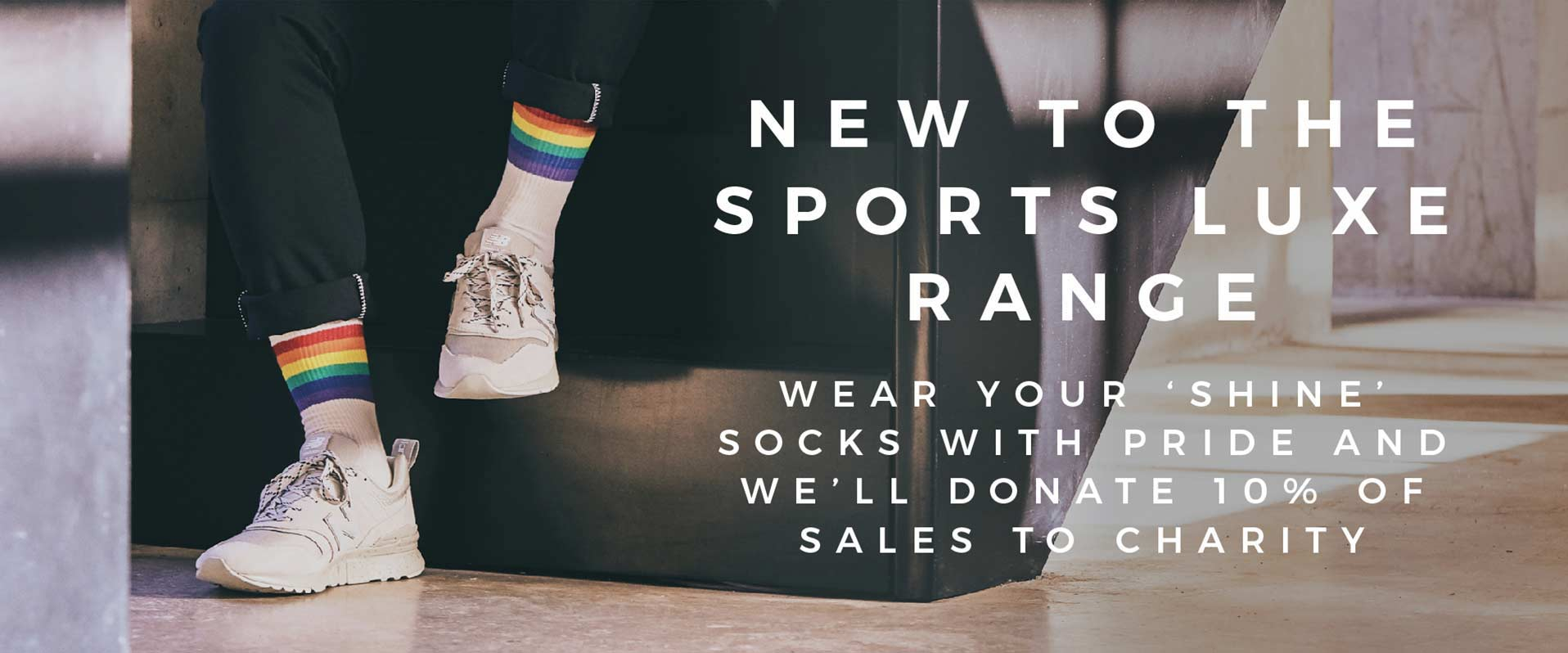 New Sports Luxe Shine Socks 10% of sales goes to charity